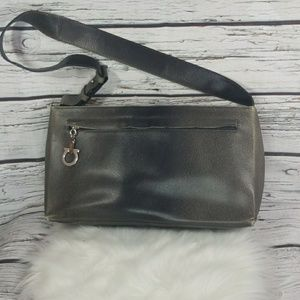 Salvatore Ferragamo hard leather one strap handbag
